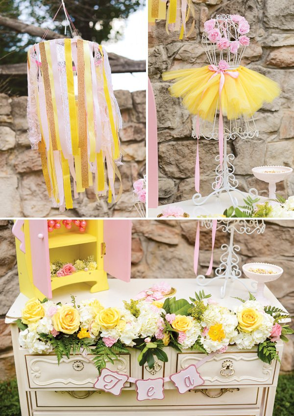 princess tea party birthday party decor