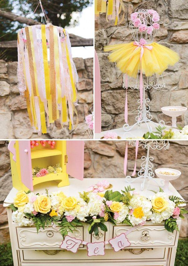 princess tea party birthday party decor