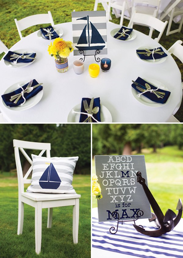 nautical sailboat party decor