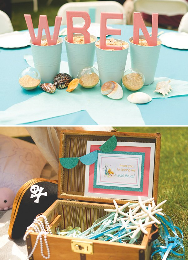 seashell party decor and favors