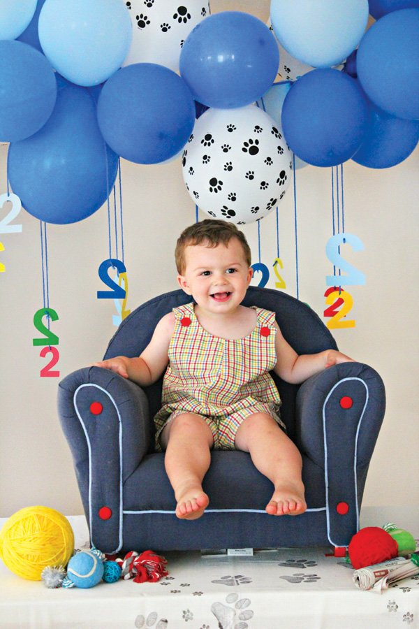 second birthday party photo shoot
