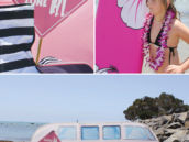 a surfer girl's beach birthday party