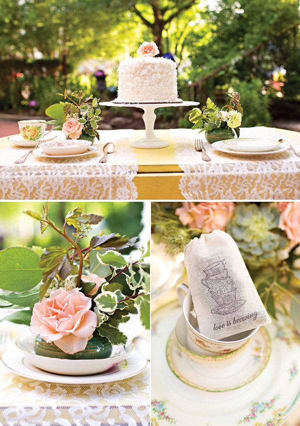 tea party wedding tablescape ideas