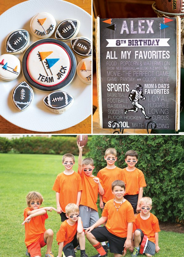 twins' joint football birthday party