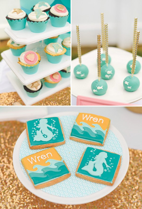 under the sea mermaid dessert ideas