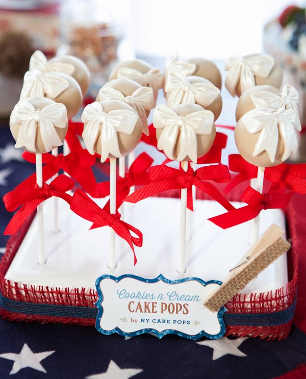 vintage americana cake pops by NY Cake Pops