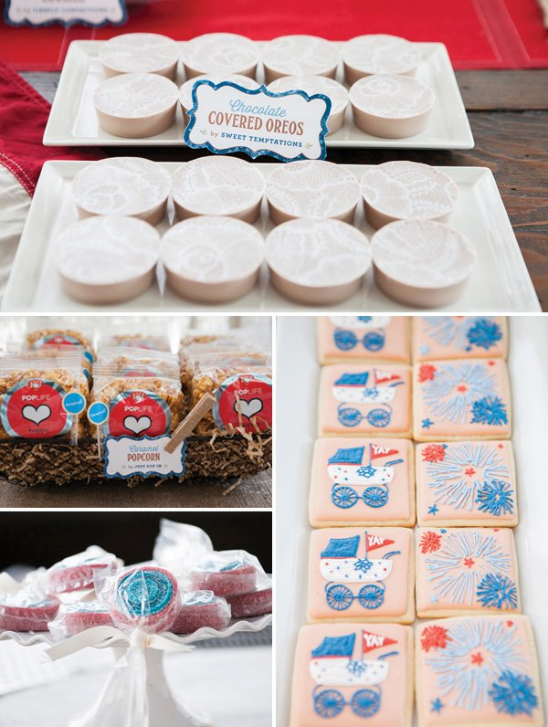 vintage americana desserts - cookies, popcorn, candy