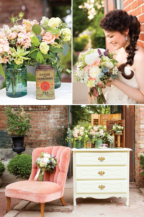 vintage wedding florals inspiration