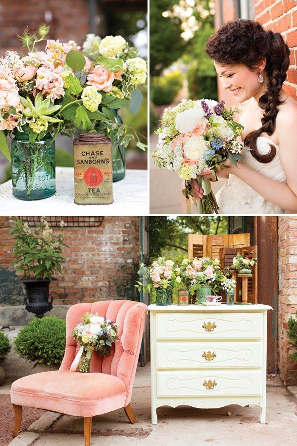 vintage wedding florals inspiration