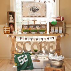 football party food buffet