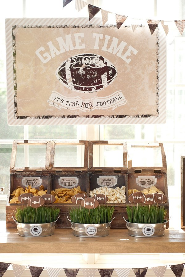 football party snack display