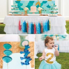 vintage mermaid birthday party ideas