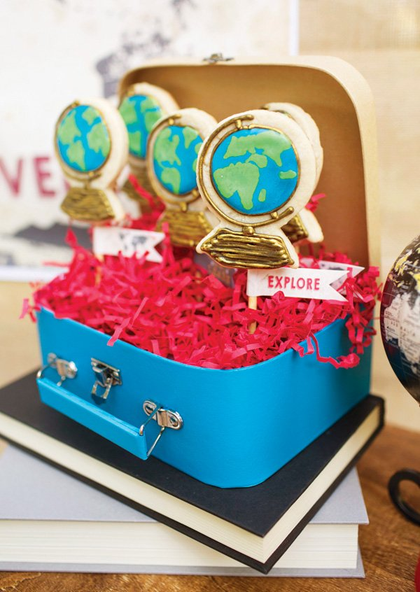 world globe cookies