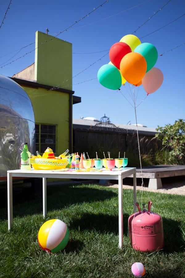 tropical fiesta party bar