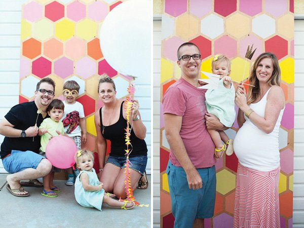 geometric photo booth backdrop