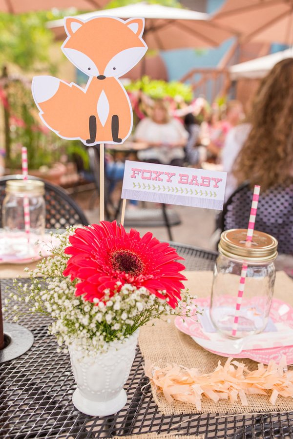 Foxy Baby Shower Centerpiece