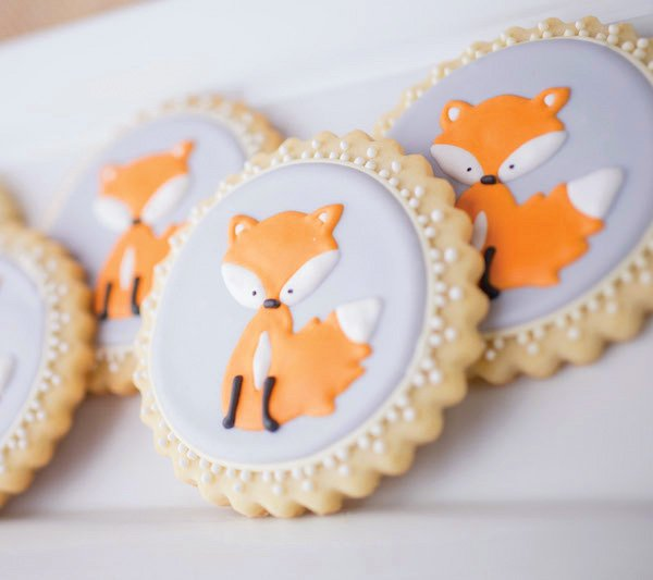 Fox Cookies - Royal Icing