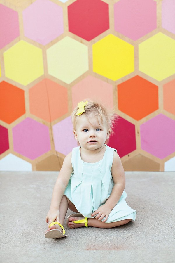 Geometric First Birthday - Photo Backdrop