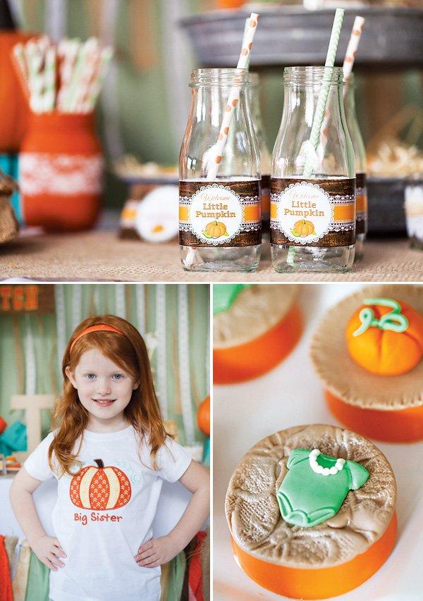 pumpkin baby shower ideas