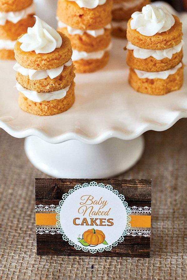 mini naked layer cakes - pumpkin