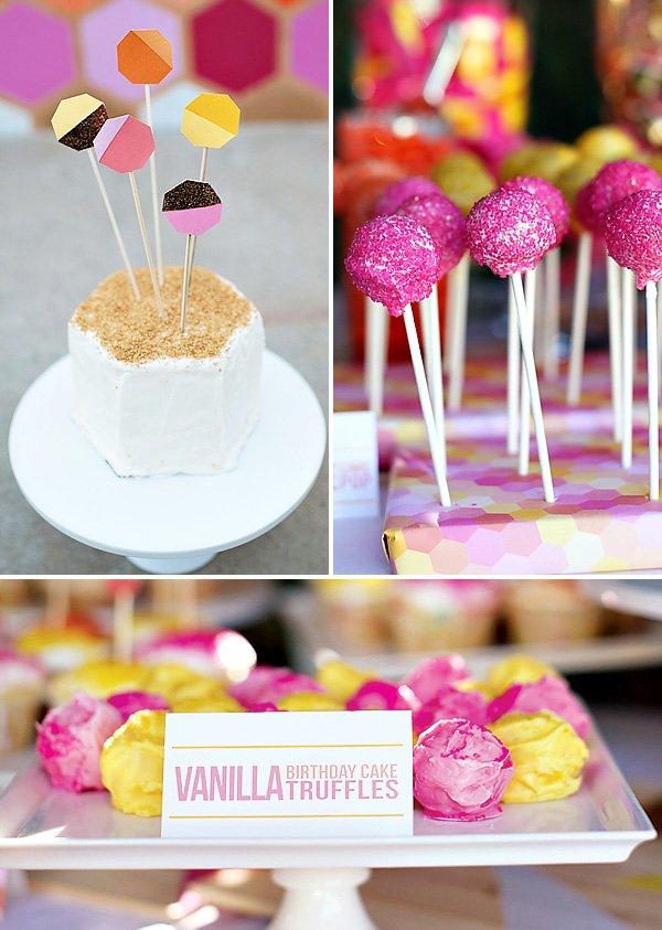 Geometric Birthday Party Smash Cake