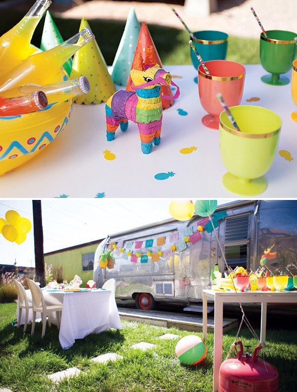 tropical fiesta party decorations