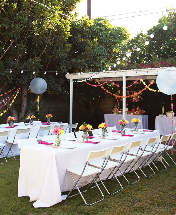 colorful geometric party decorations