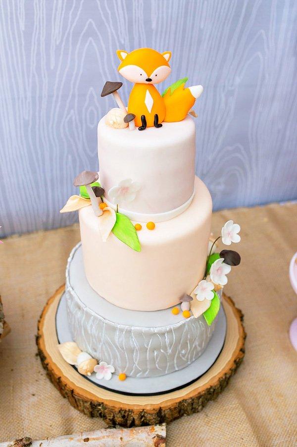 Foxy Baby Shower Cake