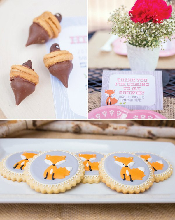 Fox Cookies and Acorn Treats