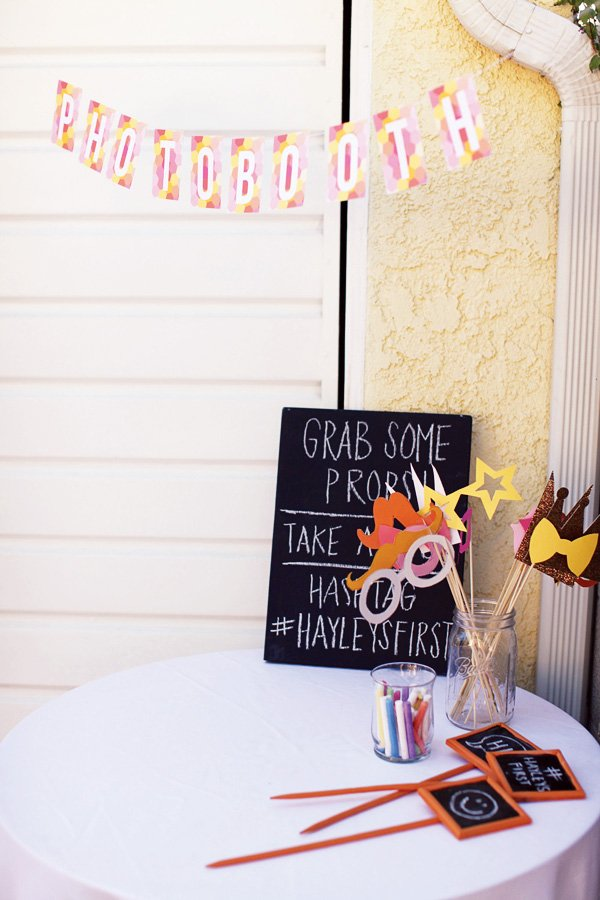geometric party photo booth