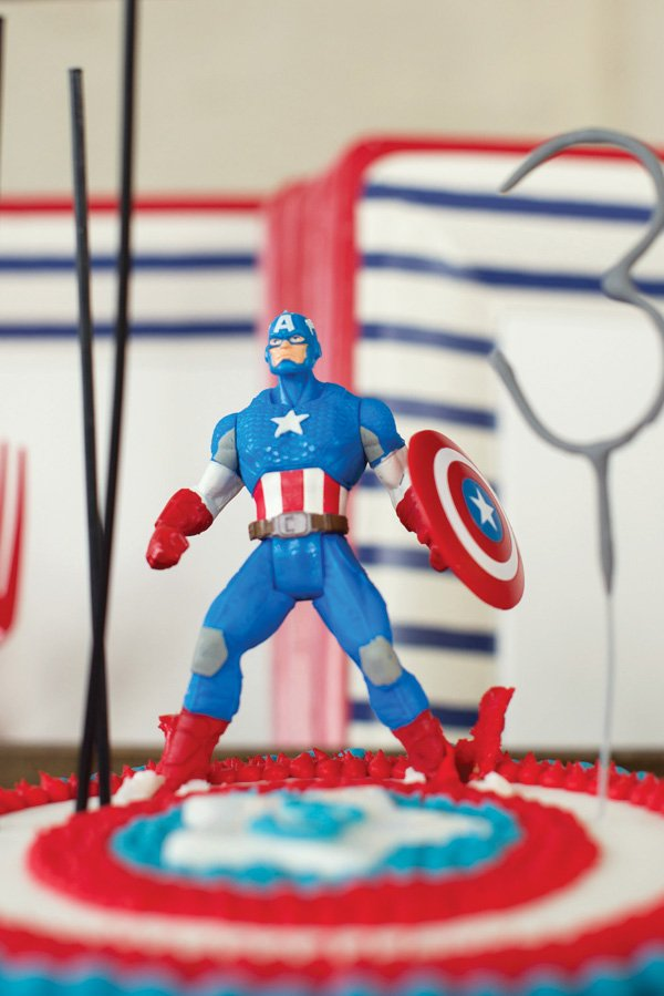 captain america cake topper figurine