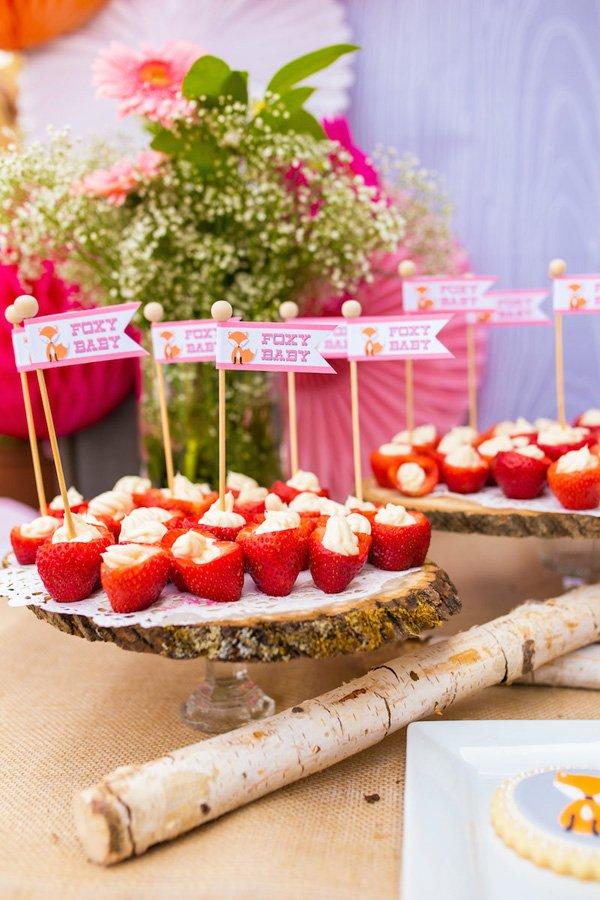 Foxy Baby Cream Cheese Strawberries