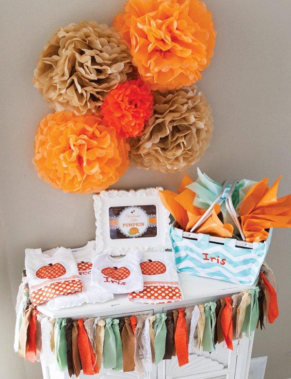 orange painted mason jars with lace trim