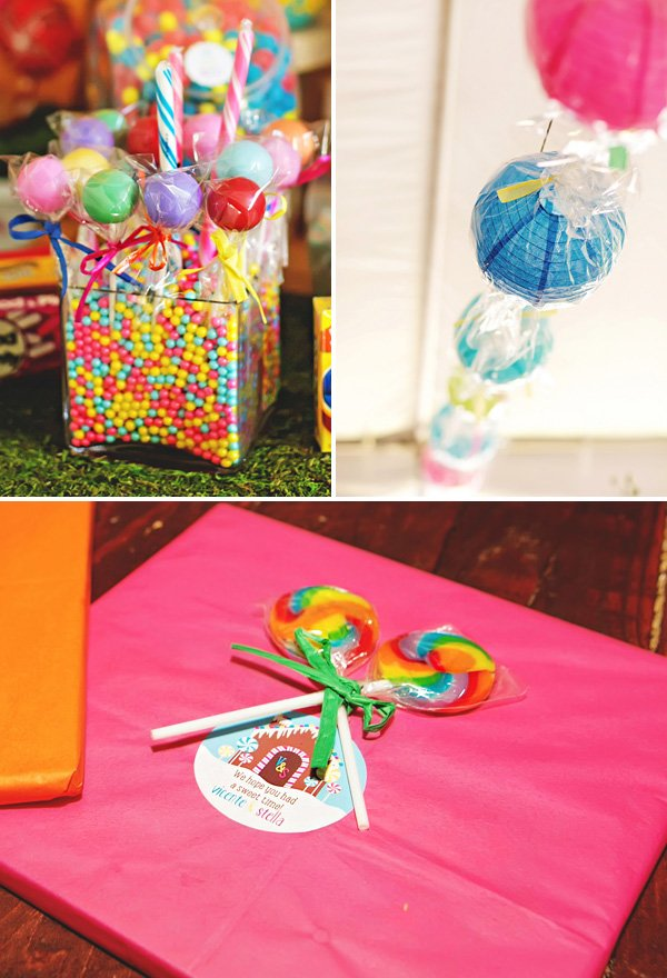 DIY candy inspired party decor