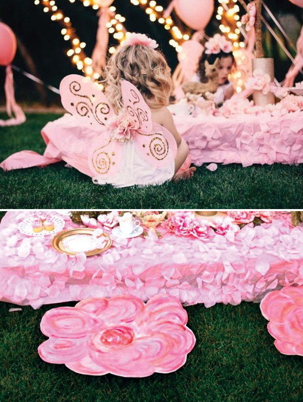 diy flower fairy party seating
