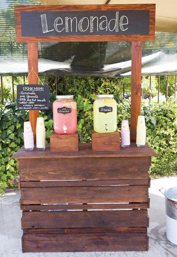 DIY wooden lemonade stand