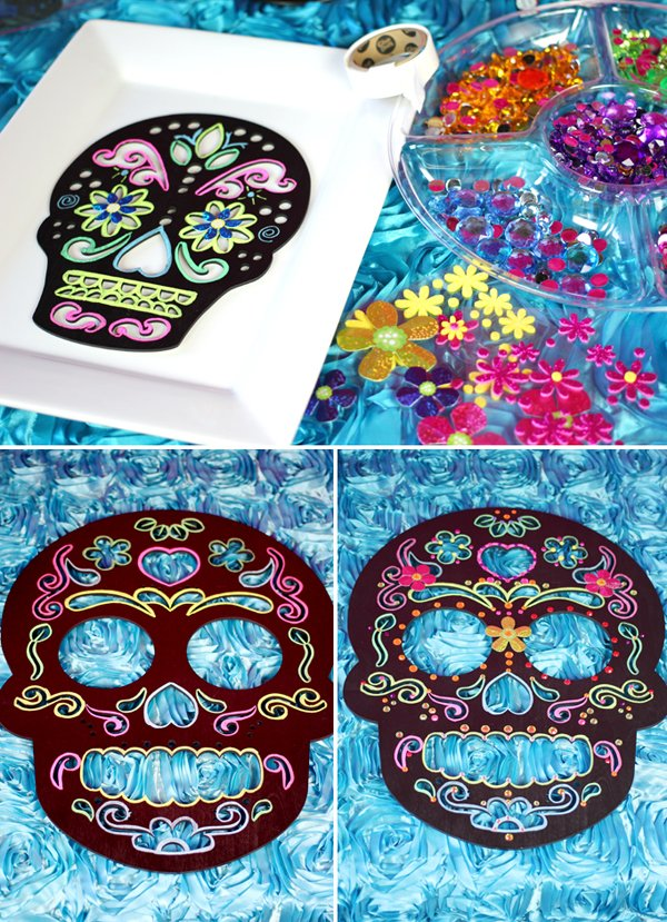 Day of the Dead Sugar Skulls DIY Embellish
