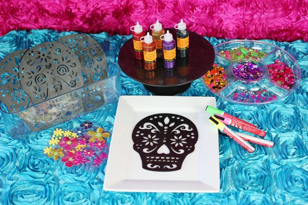 Sugar skull craft supplies