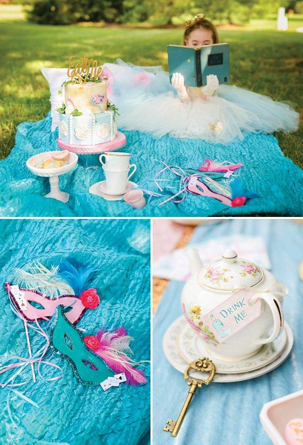 alice in wonderland tea party picnic