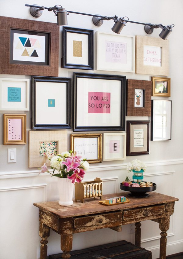 baby shower frame wall