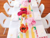 bright floral arrangements for table centerpieces