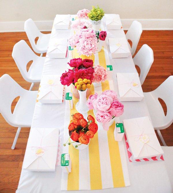 bright floral arrangements for table centerpieces
