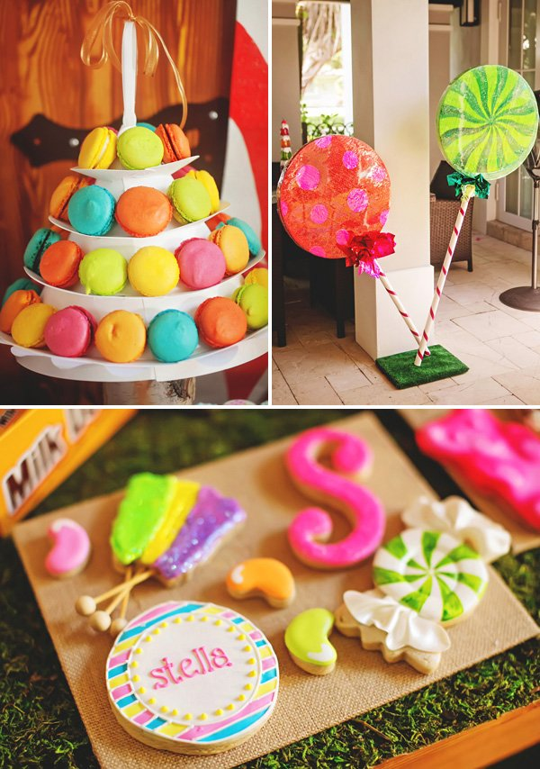 candy themed party decor and dessert ideas