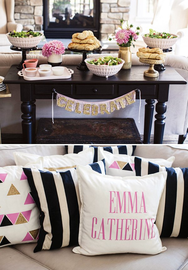 custom pillows for a baby shower