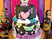 day of the dead inspired party cake