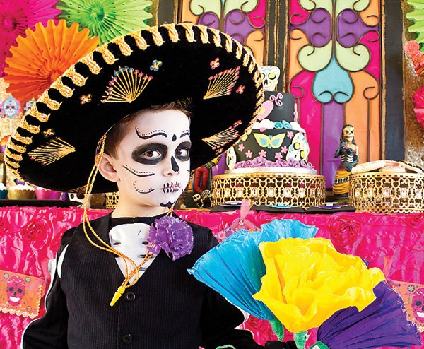 day of the dead skeleton costume for kids