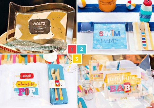 DIY custom party plates by hwtm