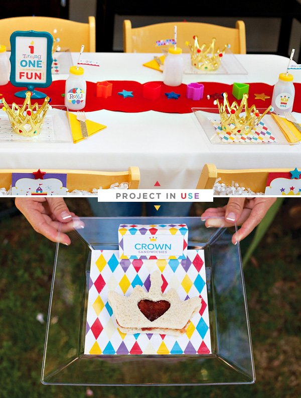 DIY Custom Party Plates - Royal Birthday Bash