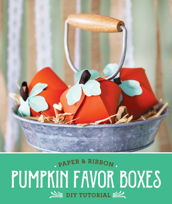 DIY Paper Pumpkin Favor Boxes