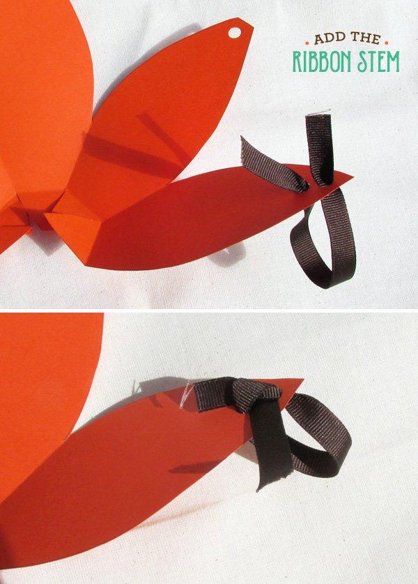pumpkin favor box ribbons